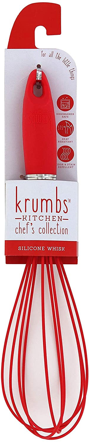 Krumbs' Kitchen Silicone Whisk-Red