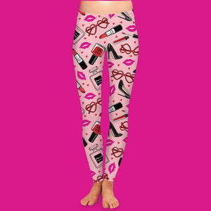 Valentines Day Makeup Leggings