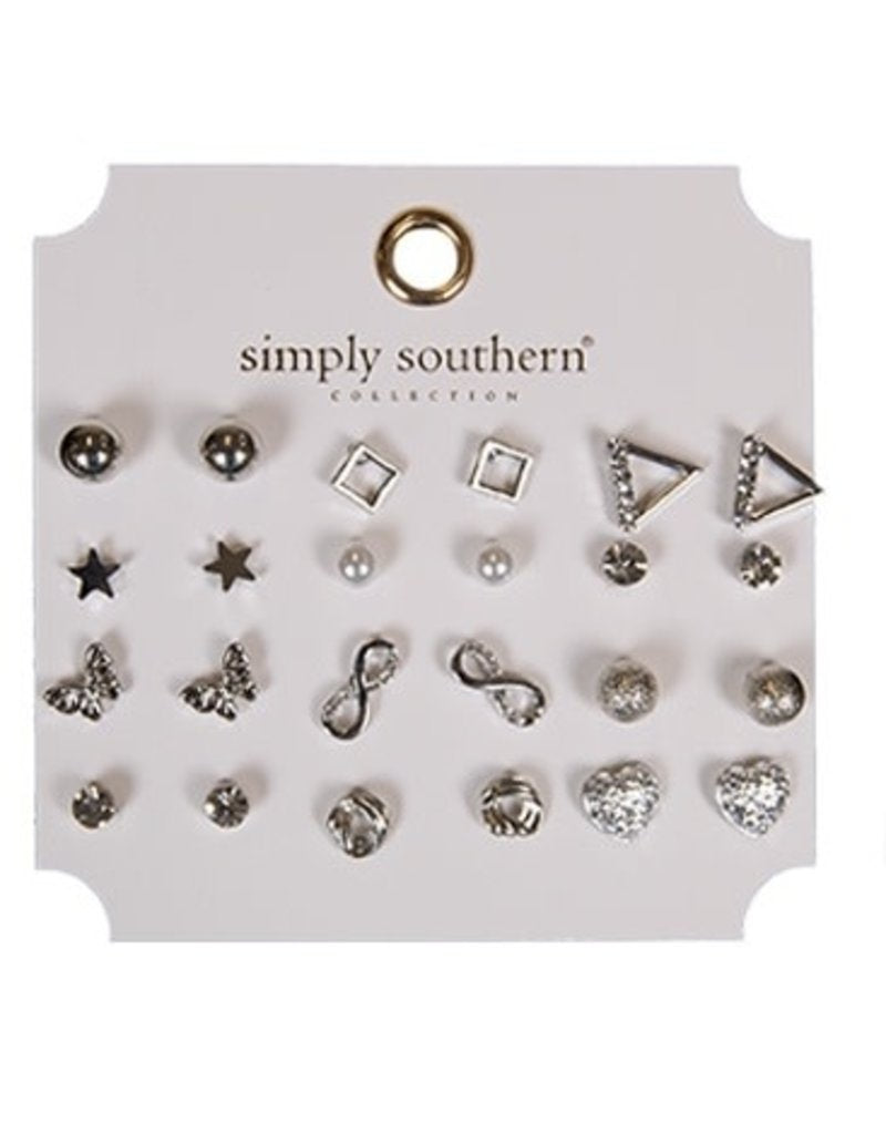 Simply Southern Earring Set-Silver