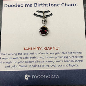 Moonglow Birthstone Clip-January