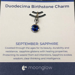 Moonglow Birthstone Clip-September