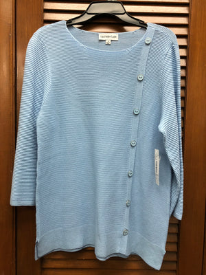 Southern Lady Powder Blue 3/4 Sleeve Sweater