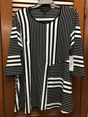 N Touch Black and White Stripe Tunic