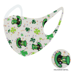 St. Patricks Day Bling Leprechaun Mask-White