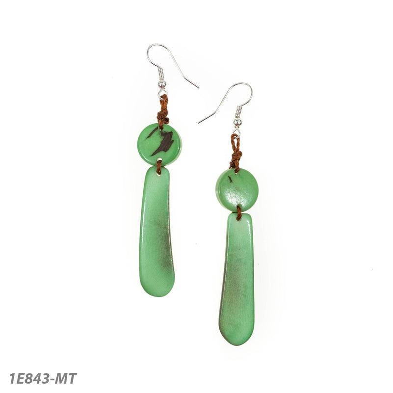 Tagua Sonia Earrings-Green