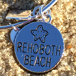 Rehoboth Delaware Beach Bangle, Silver, Chrysalis