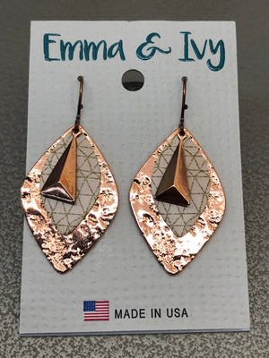Emma & Ivy Copper Dangle Earrings