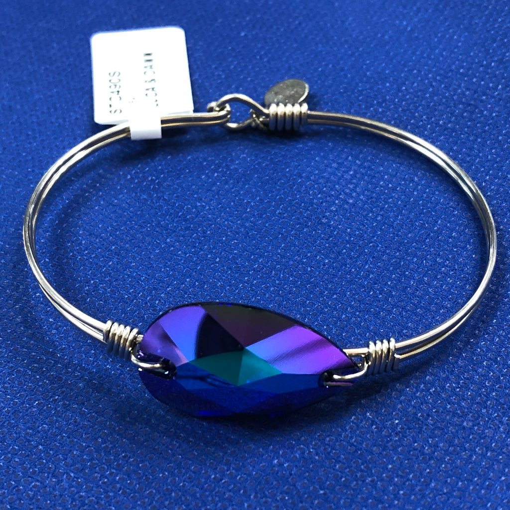 Luca + Danni Blue and Purple Stone Bangle