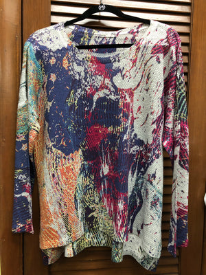 Atelier 5 Long Sleeve Multicolor Marble Top