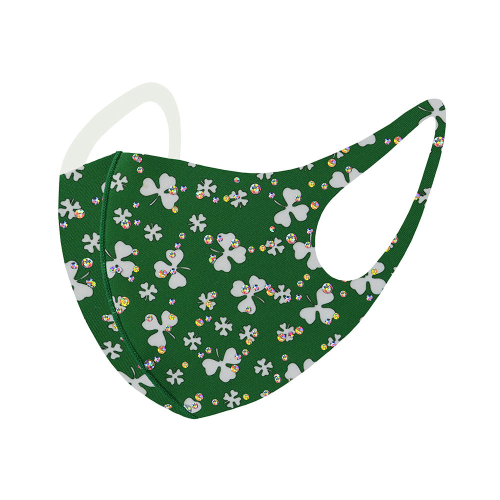 Green Clover Bling Mask