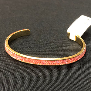 Luca + Danni Druzy Channel Cuff-Gold Peach