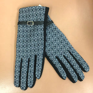 Top It Off Black and Blue Texting Gloves