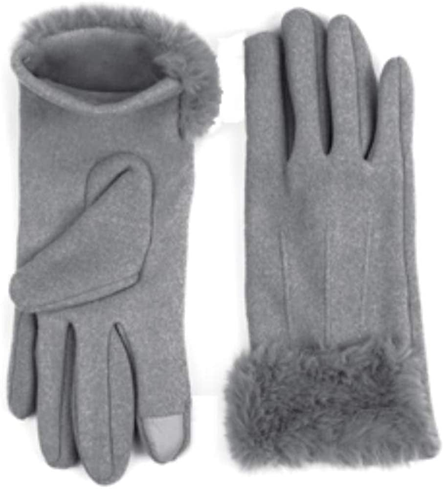 Jack and Missy Ultra Fleece Grey Texting Gloves
