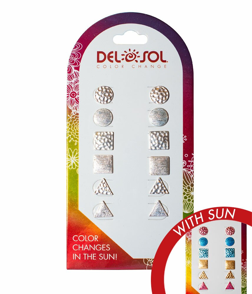 Del Sol Color Changing Earrings-Shapes