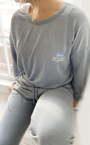 Buddy By The Sea Light Grey Lounge Pants