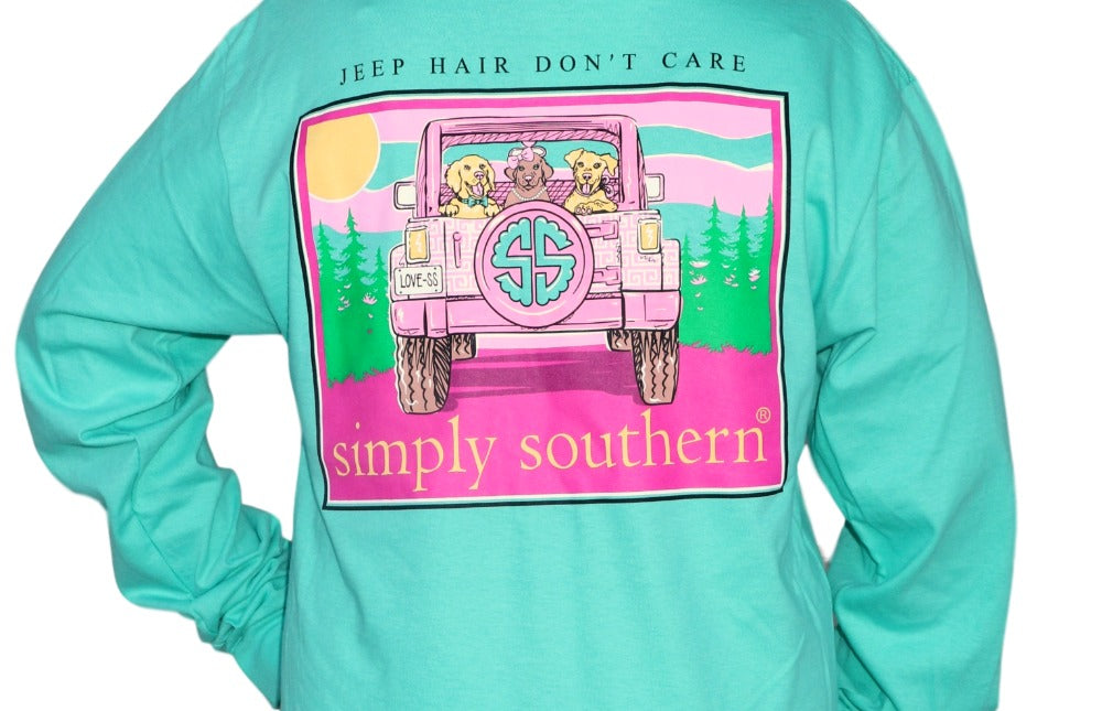 Simply Southern Jeep Hair Long Sleeve Tee