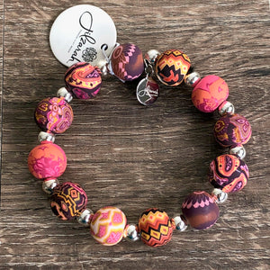 Jilzarah Sunset Clay Bead Bracelet