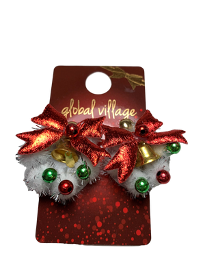 Global Village Jingle Wreath Earrings