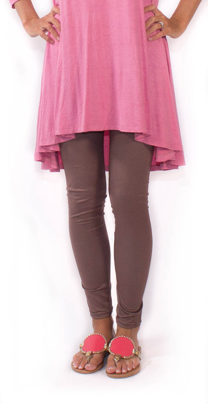 Taupe Footless Tights