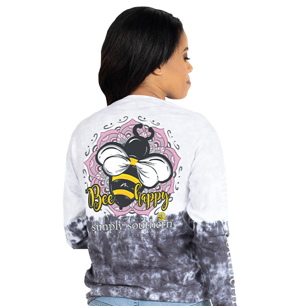 Simply Southern Bee Tie Dye Long Sleeve T-Shirt