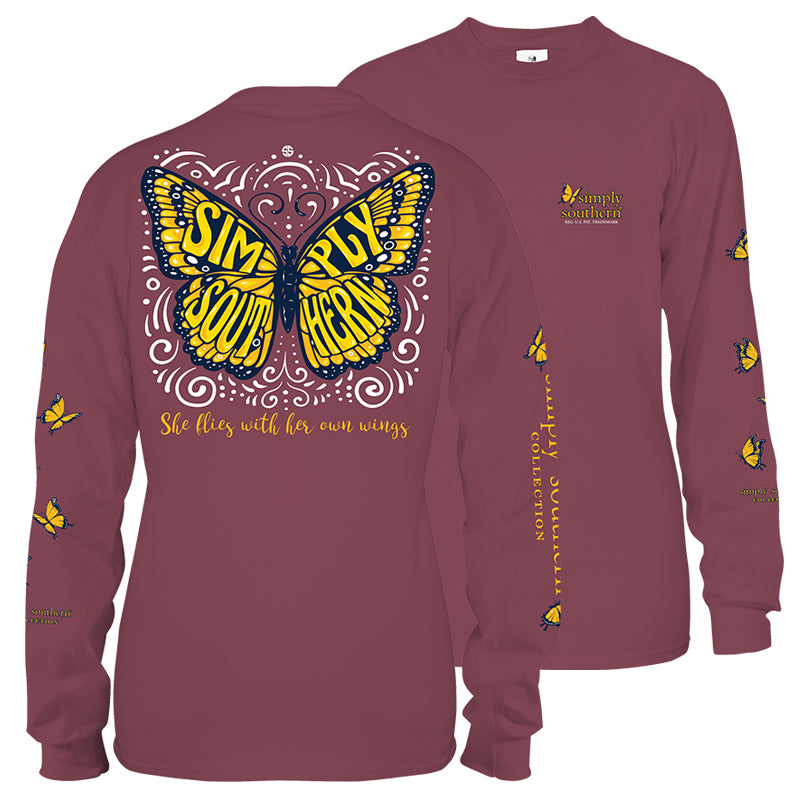 Simply Southern Butterfly Long Sleeve T-Shirt