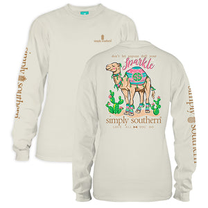 Simply Southern Sparkel Camel Long Sleeve T