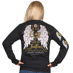 Simply Southern Feathers Long Sleeve T-Shirt