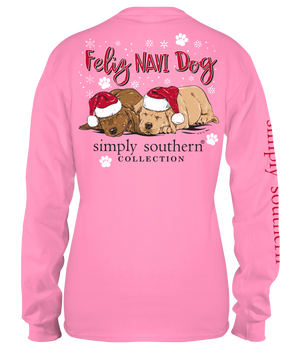 Simply Southern Feliz Navi Dog Long Sleeve Tee