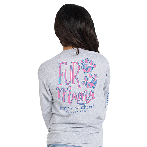 Simply Southern Fur Mama Long Sleeve T-Shirt