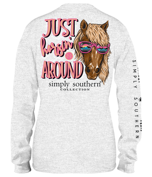 Simply Southern Horsin Around Long Sleeve Tee