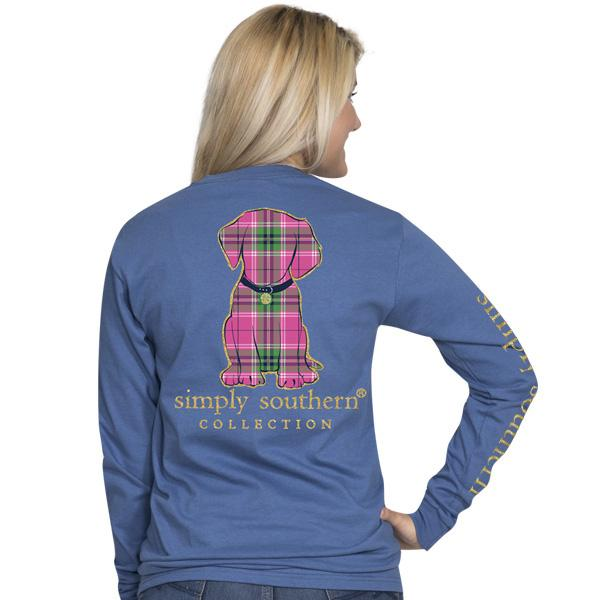 Simply Southern Preppy Puppy Long Sleeve T-Shirt
