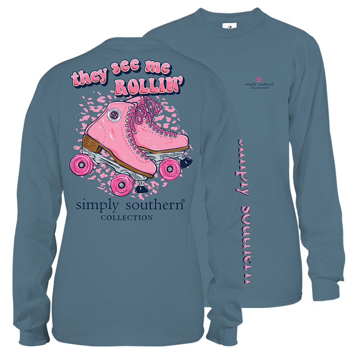 Simply Southern Roller Skates Long Sleeve T-Shirt