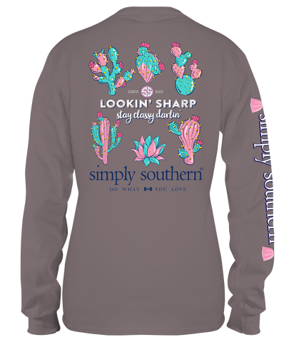 Simply Southern Long Sleeve Lookin' Sharp T-Shirt