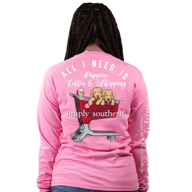 Simply Southern Super Shopping & Puppies Tee