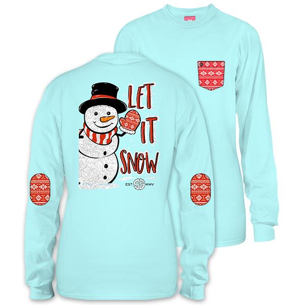 Youth Simply Southern Let It Snow Long Sleeve T-Shirt