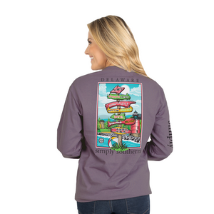 Simply Southern Plum Delaware Long Sleeve T-Shirt
