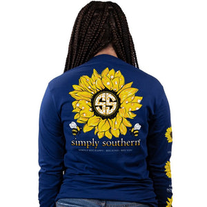 Simply Southern Sunflower Long Sleeve Tee