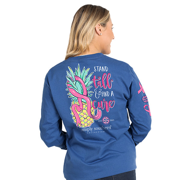 Simply Southern Breast Cancer Ribbon Long Sleeve T-Shirt