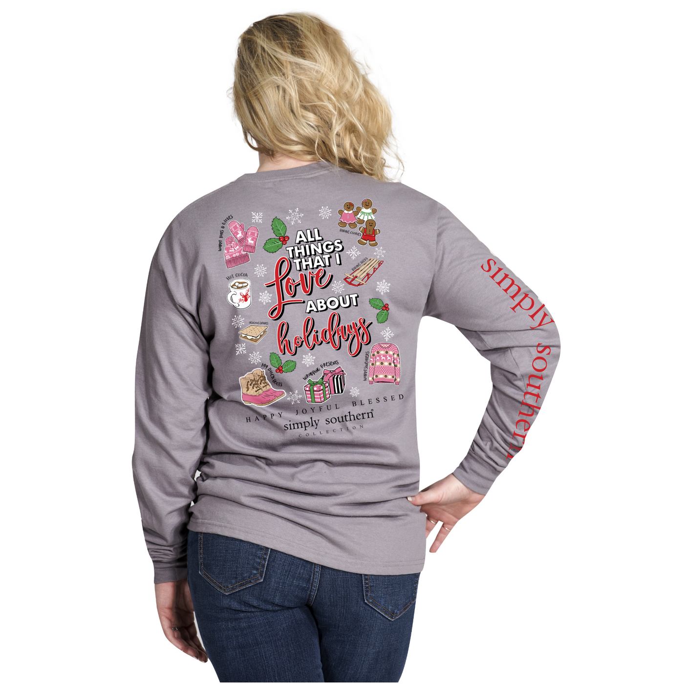 Simply Southern Christmas Faves Long Sleeve T Shirt