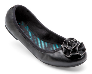 Liz Black Leather Ballet Flat