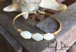 Mother of Pearl  Bangle - Luca + Dani