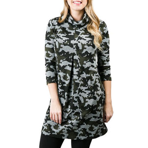 Top It Off Camo Dress