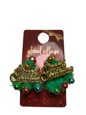 Global Village Merry Christmas Earrings