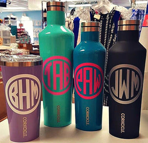 Corkcicle Free Monogramming at Blooming Boutique