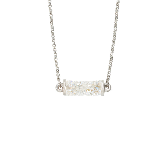 Druzy Tube Necklace in Moonlight - Luca + Danni
