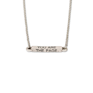 You Are The Page Necklace - Luca + Danni