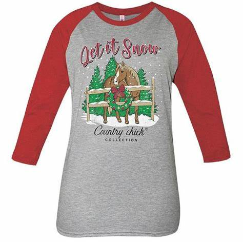 Simply Southern Let it Snow Tee