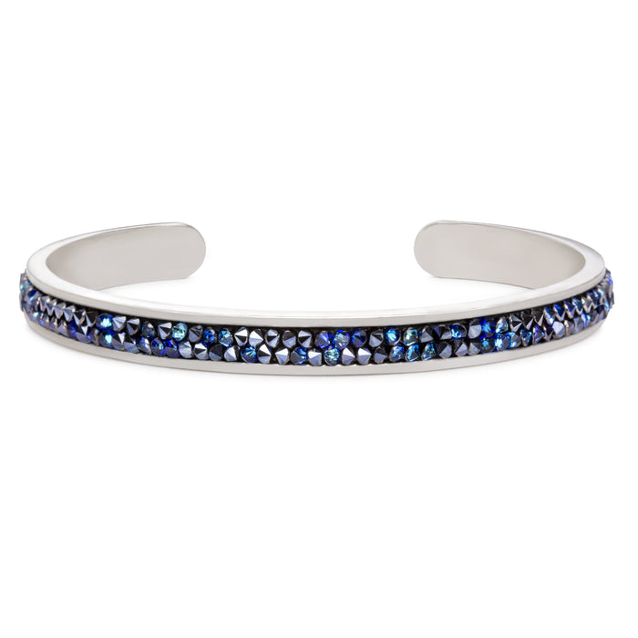 Druzy Channel Cuff in Metallic Blue - Luca + Danni