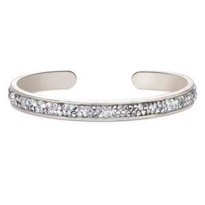 Druzy Channel Cuff in Metallic Silver - Luca + Danni