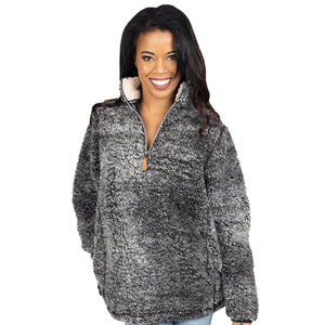 Simply Southern Sherpa Pullover Dark Grey